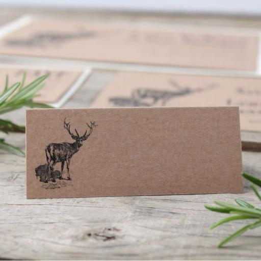 Vintage stag place Cards x 50