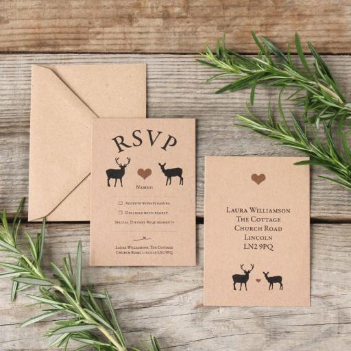 Modern Stag - RSVP cards x 25