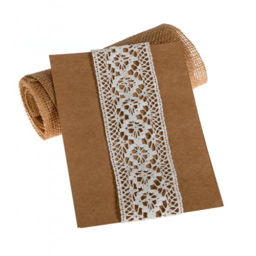 White Crochet lace 6cm width - 5 metres