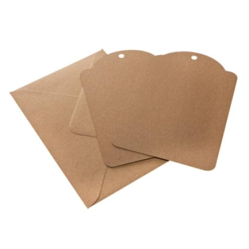 Extra Large Brown kraft luggage tags x 25 with envelopes