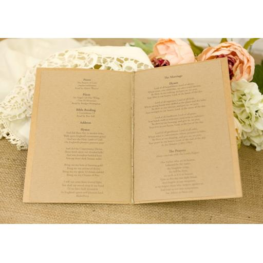 Elegance Collection - Order of service booklets x 50