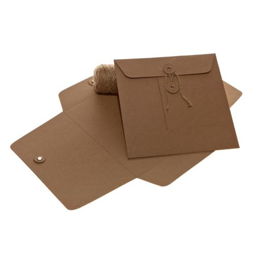 105MM BROWN KRAFT String Tie Envelopes x 25