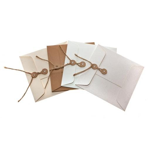 C5 Vintage Cream Fleck String Tie Envelopes x 25