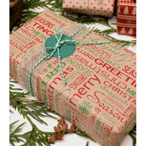 Christmas Typography Design Wrapping Paper