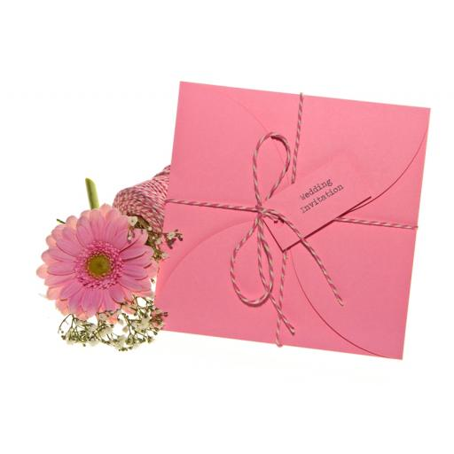 Pale Pink petal wallets 150mm square ( pack of 25)
