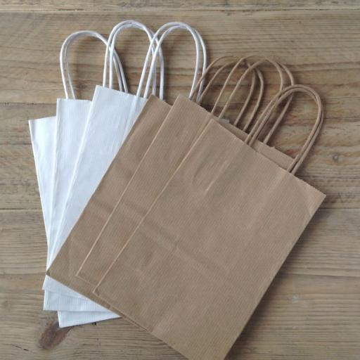 Paper bags with twisted tie handle x 10