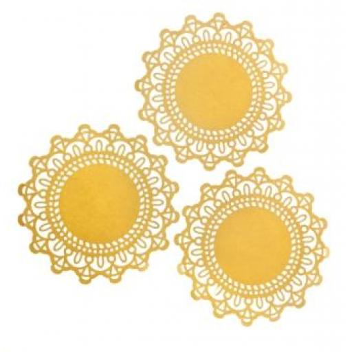 Pale Lemon paper doilies ( pack of 10) 12cm wide
