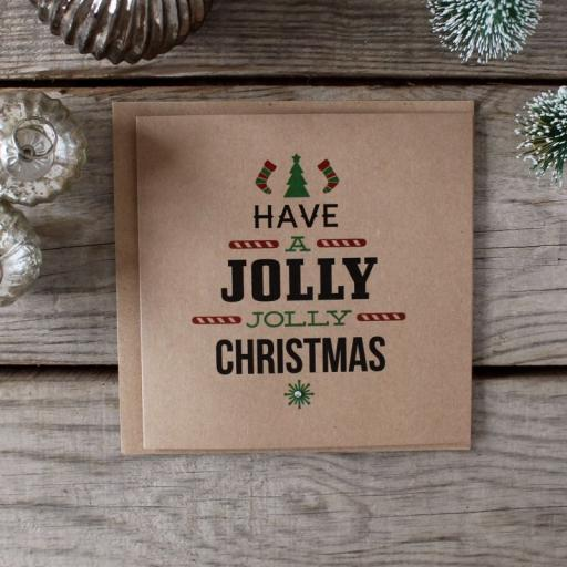 Brown Kraft Christmas Cards - Colour Set