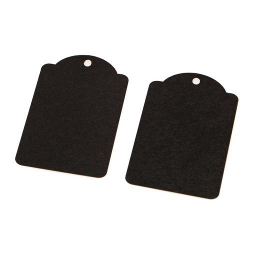Small BLACK luggage tags x 50