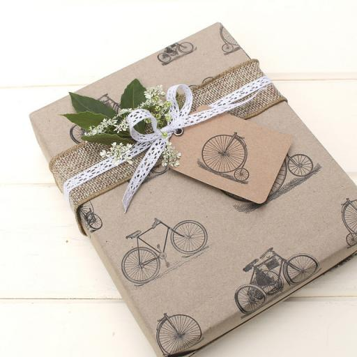 Vintage Bicycle Wrapping Paper sheet