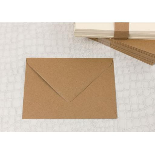 C7 Brown Kraft Envelopes pack of 50