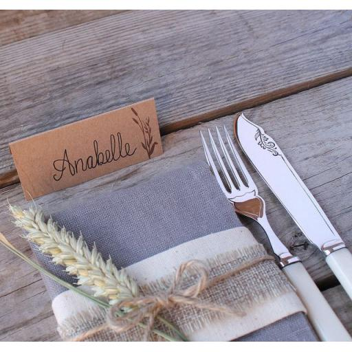 Wheatgrass Wedding Place Cards x 50