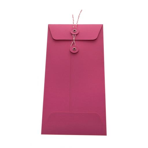 DL Cerise Pink String Tie Envelopes x 25