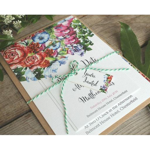 Botanical Blooms Invitations - full set x 25