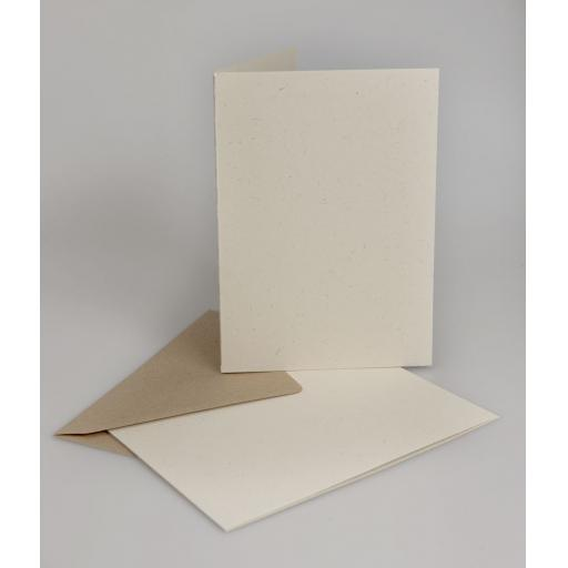 Vintage Cream Fleck A4 Folded Cards with Brown Envelopes (A5) pack of 50