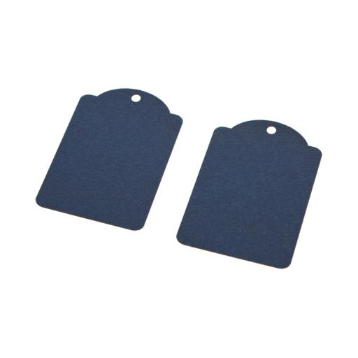 Small NAVY luggage tags x 50