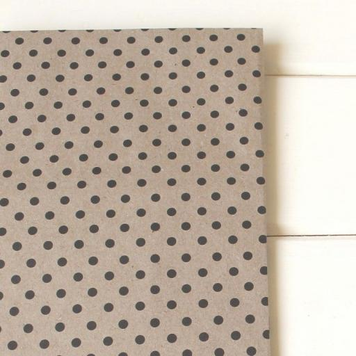Vintage Dotty BLACK Wrapping Paper