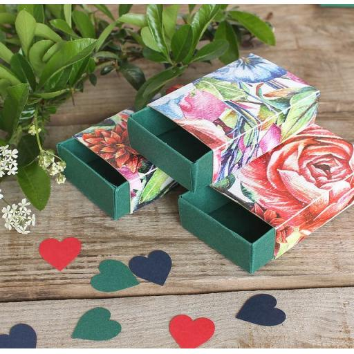 Botanical Blooms Matchboxes x 10