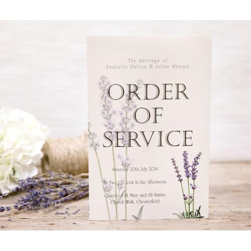 Lavender order of service booklets x 50