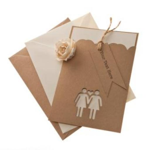 Belle Femme Brown Kraft A6 invitation Sleeves & FREE mini tags x 50