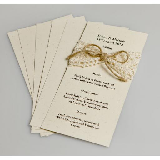Vintage Cream Fleck 225gsm DL INSERT size Card (pack of 50)