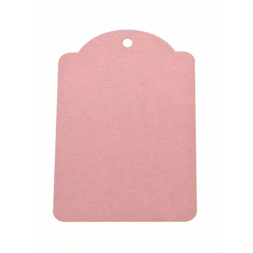 Small PALE PINK luggage tags x 50