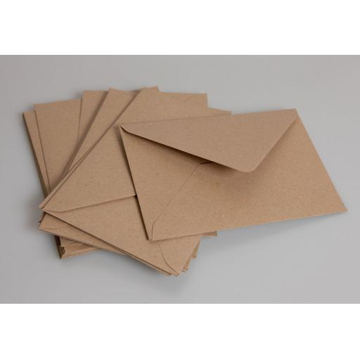 C6 Brown Kraft Envelopes pack of 50