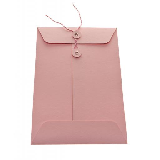 C7 Pale Pink String Tie Envelopes x 25