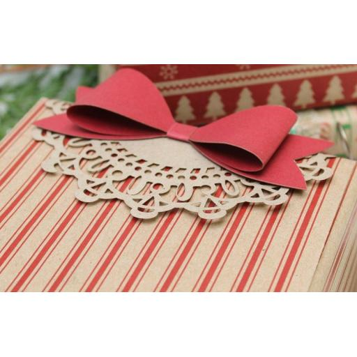 Ticking Stripe RED Wrapping Paper
