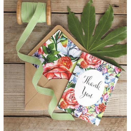 Botanical Bloom - thank you card set