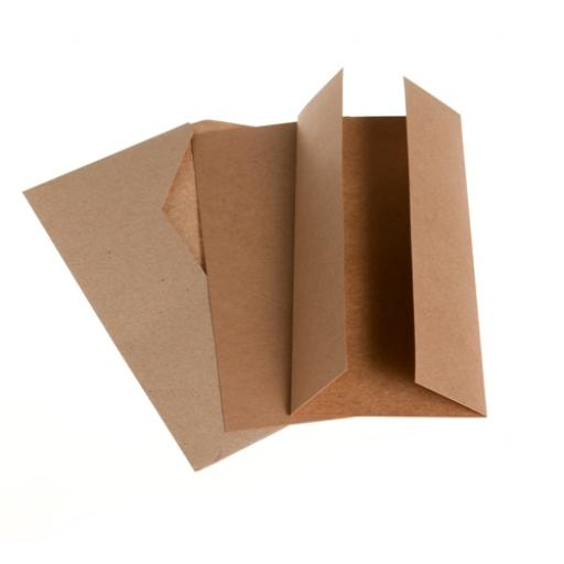 Recycled Kraft Card DL Gatefold Card Kit ( pack of 50)