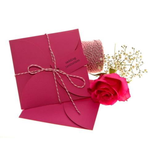 Cerise Pink CD size petal wallets ( pack of 25)