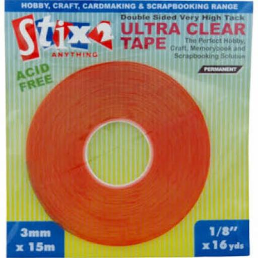Stix 2 Ultra Clear Tape 15m