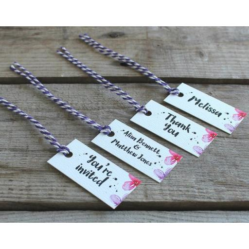 watercolour pastel rectangular tags x 50