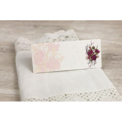 Botanical RED FLOWER Wedding Place Cards x 50