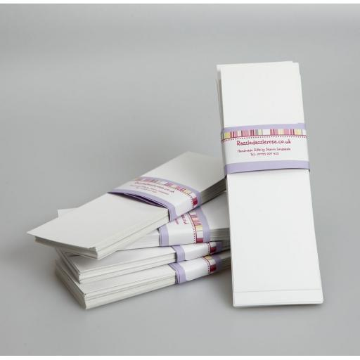 Vintage white Fleck Bookmark blanks ( pack of 50)