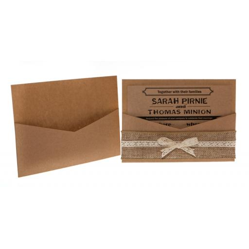BROWN KRAFT CARD A6 pockets (pack of 50)