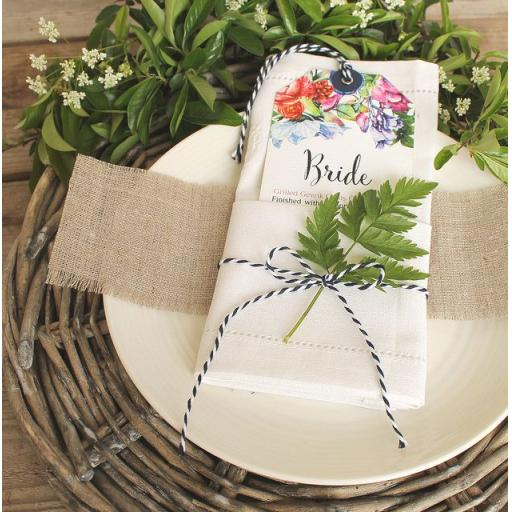 Botanical Blooms Menu tags