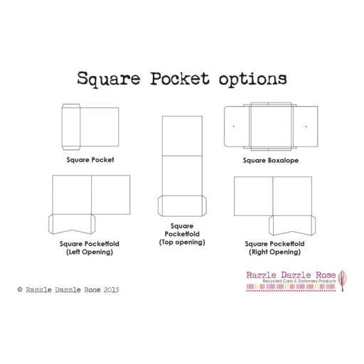 Square Pocketfold Wallets (145mm) x 10