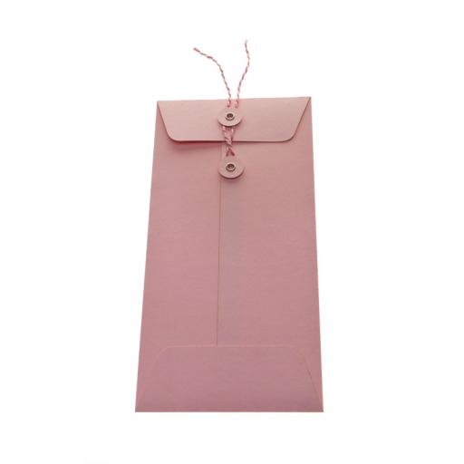 DL Pale Pink String Tie Envelopes x 25