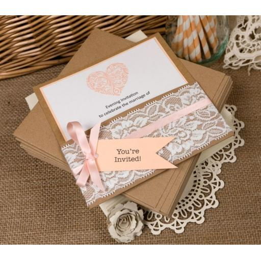 Peach Card ( pack of 50 sheets)