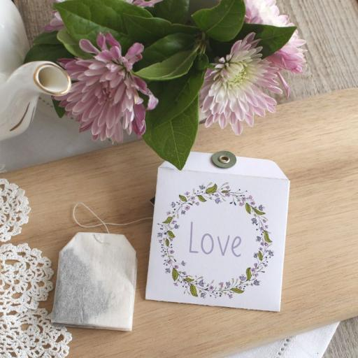 Tea bag envelopes x 25 wreath design)