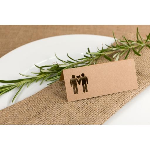 Laser cut Belle Homme Table place cards -all colours