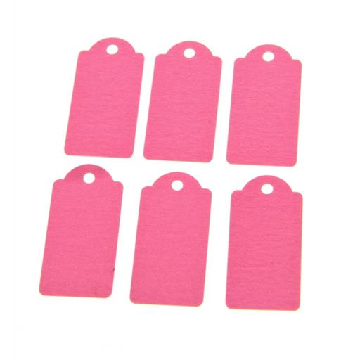Mini Pale Pink luggage tags x 50