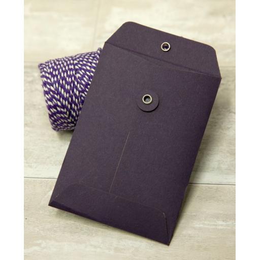 C5 PLUM String Tie Envelopes x 25