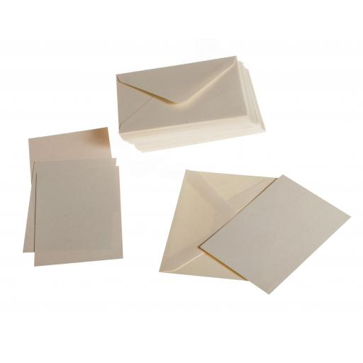 Vintage Cream Fleck A7 folded card with matching Cream envelopes ( pack of 50)