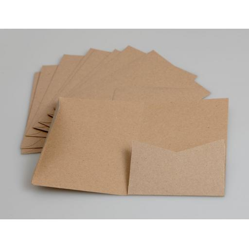 Brown Kraft A6 Pocketfold Wallets (pack of 50)