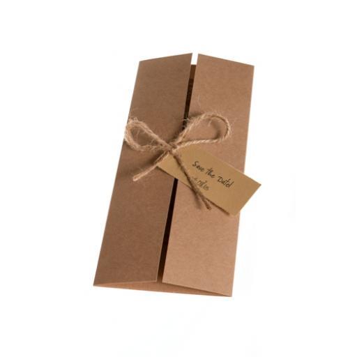 Recycled Kraft Card DL Gatefold Card Kit ( pack of 50)