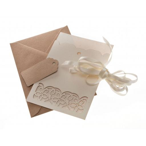 A6 LASER CUT FLORAL A6 sleeves (pack of 50) with free mini tags