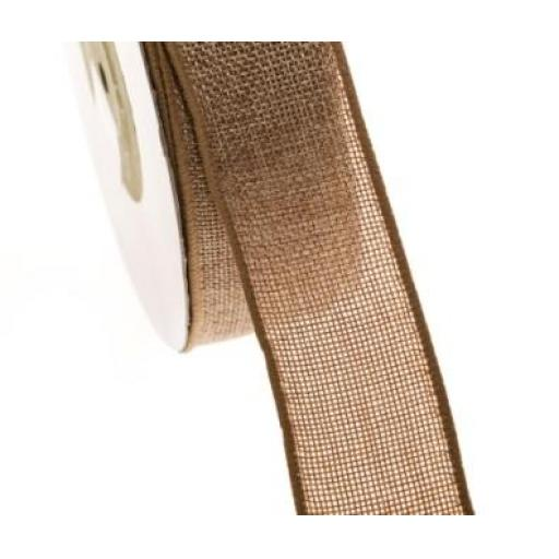 Natural Burlap / Hessian Ribbon 38mm width x 9.25m ROLL